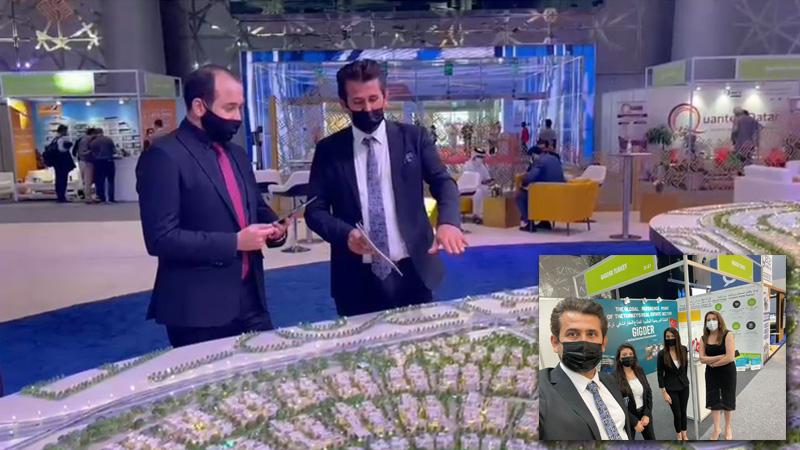 ألتن تورك رئيس مجلس إدارة العقارات والاستثمار السيد إسماعيل ألتين في معرض سيتي سكيب في الدوحة 2021