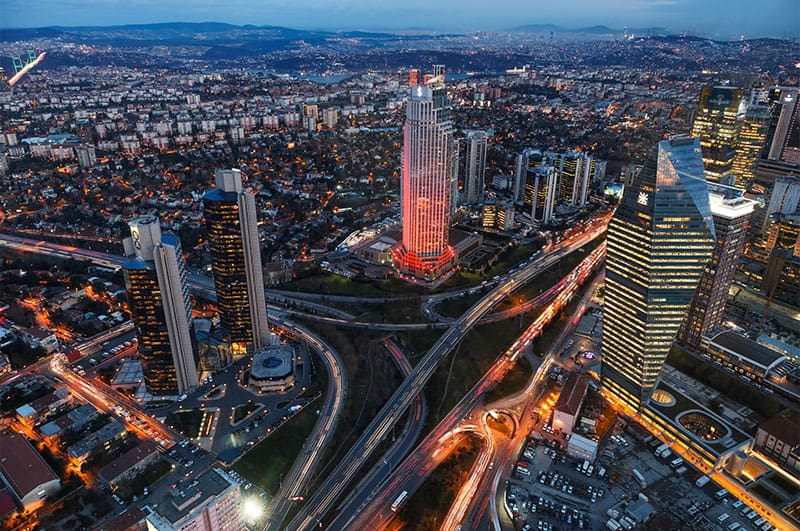 What was in the construction sector and real estate properties in Turkey in 2020?