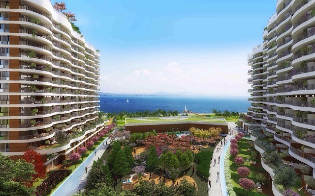 Sea and lake view apartments for sale Istanbul