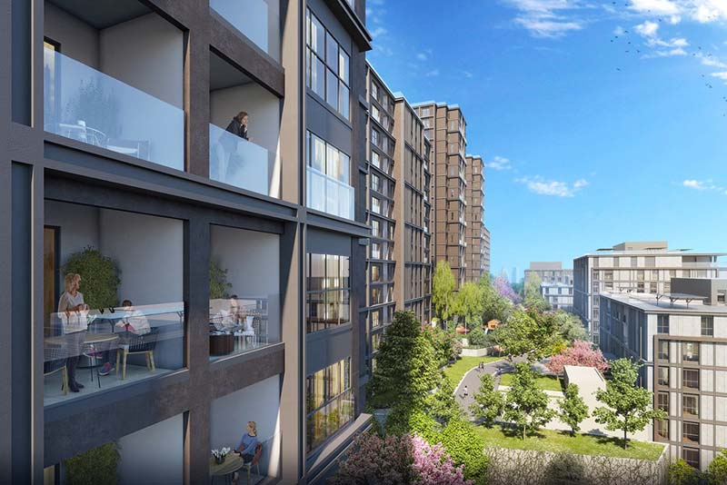Istanbul, Maslak Luxury Apartments with Jungle View