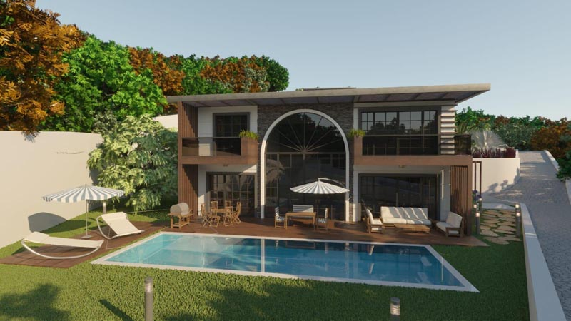 Bodrum Yalıkavak Smart Home System Private Villas with Swimming Pool