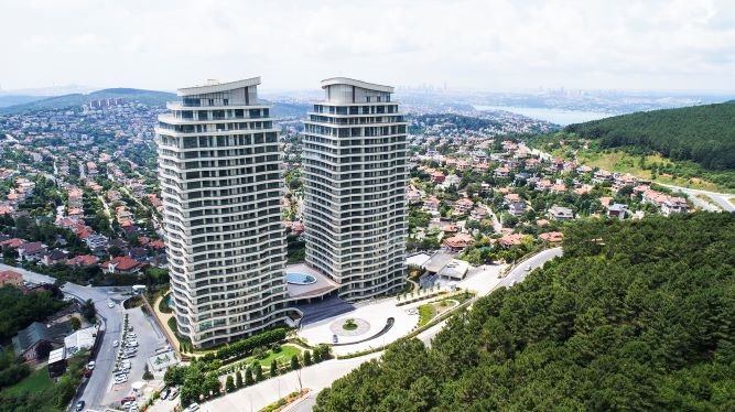 Apartment for sale with Forest and Sea view , Beykoz , ISTANBUL